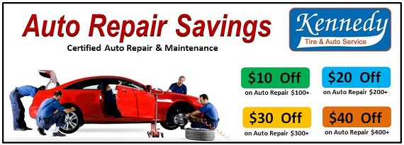 Car Repair And Maintenance >> Kennedy Tire Auto Service Promotions Savings On Auto Repair